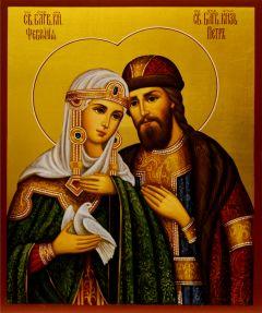 Рукописная икона Петр и Феврония 64