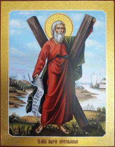 Рукописная икона Андрей Первозванный 7
