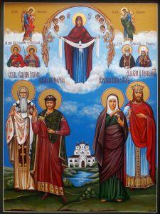 Рукописная семейная икона 74