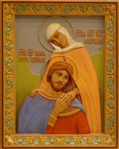 Резная икона Петр и Феврония 21