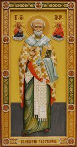 Резная икона Николай Чудотворец 7