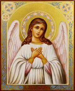 Рукописная икона Ангел Хранитель 29 (Размер 13*16 см)
