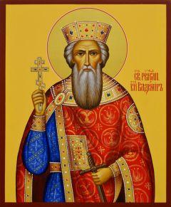 Рукописная икона Владимир Равноапостольный 5 (Размер 17*21 см)
