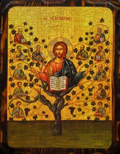 Икона состаренная Древо Жизни (Истинная Лоза)