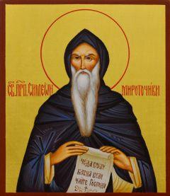 Рукописная икона Симеон Мироточивый
