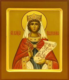 Рукописная икона Екатерина 4