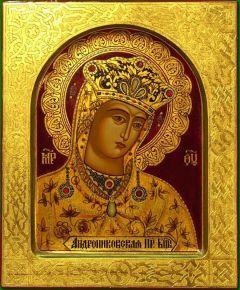 Рукописная икона Андрониковская Божия Матерь
