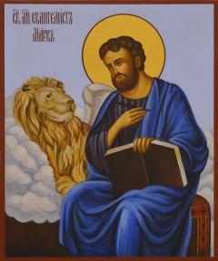 Рукописная икона Апостол Марк 4 (Размер 17*21 см)
