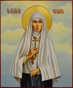 Рукописная икона Елизавета (Елисавета) Федоровна масло 4