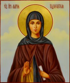 Рукописная икона Мария Радонежская масло 2