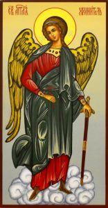 Рукописная икона Ангел Хранитель 36 (Размер 13*25 см)
