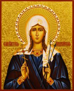 Рукописная икона Виктория Кордубская Кордувийская 3