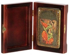 Икона ручной работы Святой Апостол Иоанн Богослов, с натуральными камнями