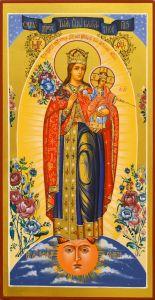 Рукописная икона Благодатное Небо 3