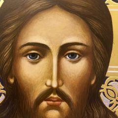 Рукописная икона Спас Нерукотворный 12