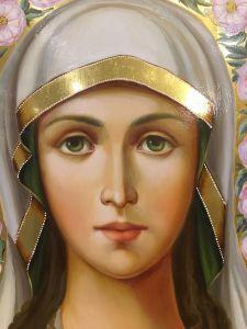 Рукописная икона Фотина Самаряныня масло