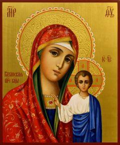 Рукописная Казанская икона 21