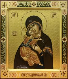 Рукописная икона Владимирская 12