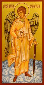Рукописная икона Ангел Хранитель 37 (Размер 13*25 см)