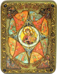 Икона Неопалимая Купина с камнями