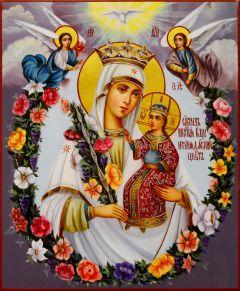 Рукописная икона Неувядаемый Цвет масло 26