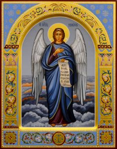 Рукописная икона Ангел Хранитель 38 (Размер 22*28 см)