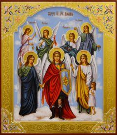 Рукописная икона Собор Архистратига Михаила 4 (Размер 27*31 см)