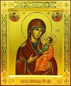 Рукописная икона Иверская 11