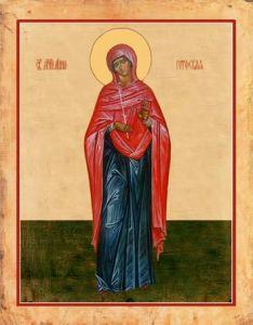 Рукописная икона Анна Готфская