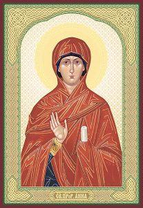 Рукописная икона Анна Пророчица