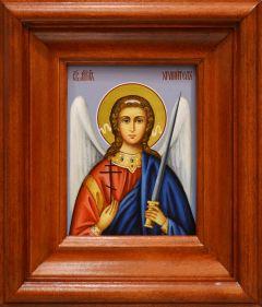 Рукописная икона Ангел Хранитель в киоте 41 (Размер в киоте 19*22 см)