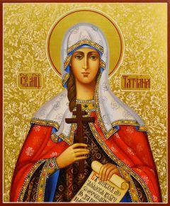 Рукописная икона  Татьяна (Татиана) Римская 10