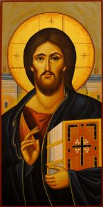 Рукописная икона Спас Пантократор Синайский