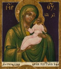 Рукописная Антиохийская икона Божией Матери