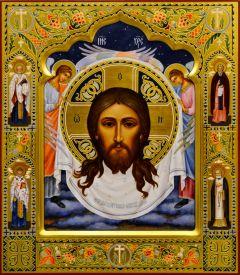 Рукописная икона Спас Нерукотворный 14