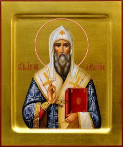Рукописная икона Алексий Московский 6