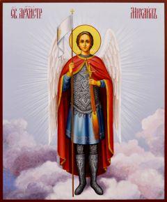 Рукописная икона Архангел Михаил 15 (Размер 21*25 см)