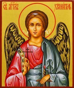 Рукописная икона Ангел Хранитель 43 (Размер 9*10.5 см)