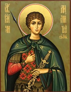Рукописная икона Дмитрий (Димитрий) Солунский 5