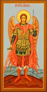 Рукописная икона Архангел Михаил 16 (Размер 13*25 см)