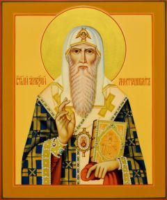 Рукописная икона Алексий митрополит Московский 7 (Размер 17*21 см)