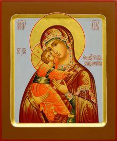 Рукописная икона Владимирская 12 (Размер 17*21 см)