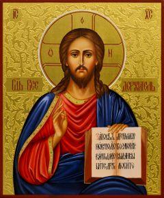 Рукописная икона Спас Вседержитель 23 (Размер 17*21 см)