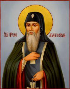 Рукописная икона Матфей Печерский масло
