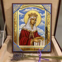 Рукописная икона Елена Равноапостольная 8 (Размер 17*21 см)