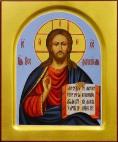 Рукописная икона Спас Вседержитель 25 (Размер 17*21 см)