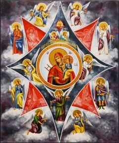 Рукописная икона Неопалимая Купина 7