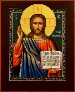 Рукописная икона Спас Вседержитель 26