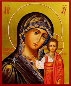 Рукописная икона Казанская 29
