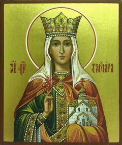 Рукописная икона Тамара царица 4 (Размер 9*10.5 см)